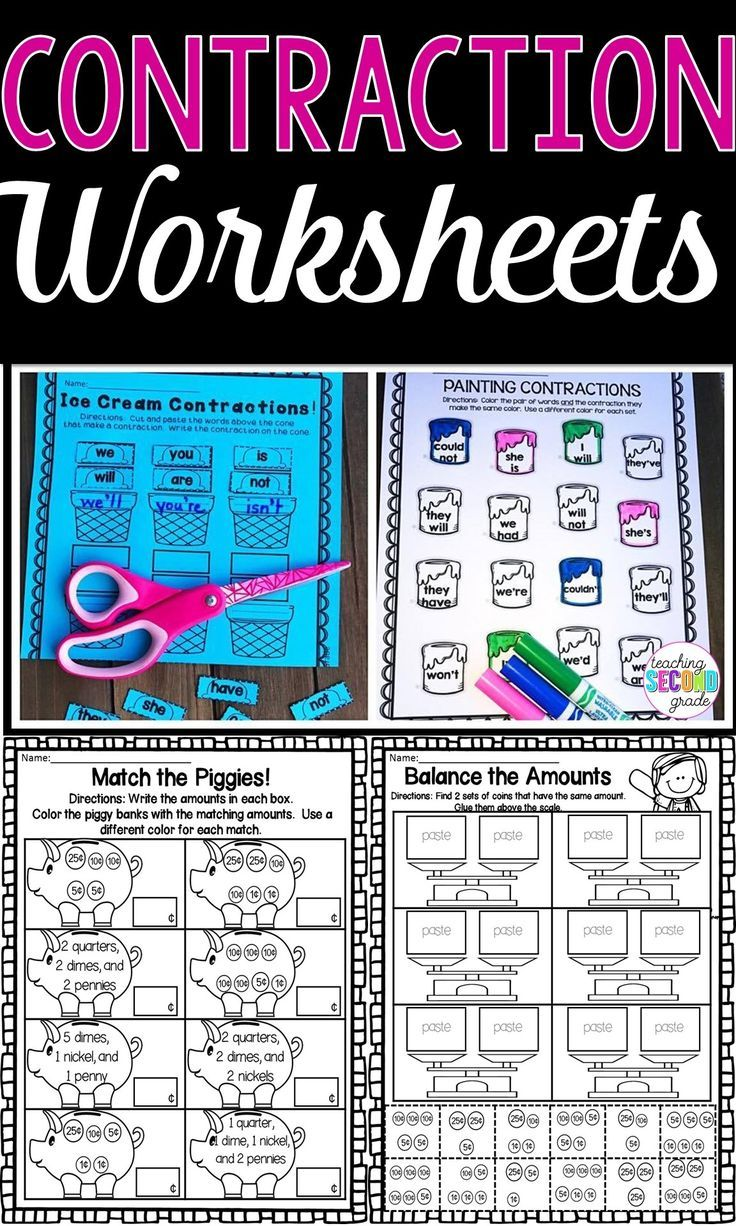 Contractions | Contraction Worksheets | Pinterest | Morning work ...