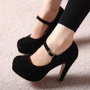860610d8de Barato 2014 moda primavera e outono alta de salto salto grosso rodada dedo  sapatos das mulheres