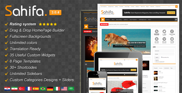 Sahifa - Responsive WordPress News / Magazine / Blog Theme ...
