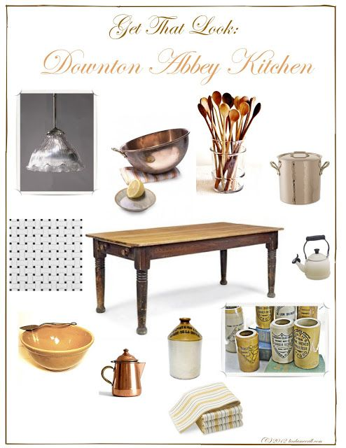 Get That Kitchen Look From Downton Abbey Downton Abbey Enchanting Downton Abbey Kitchen Design Inspiration Design
