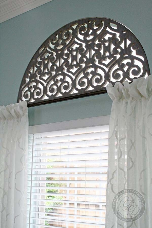 Custom Drapery Design Arched Window Coverings Arched