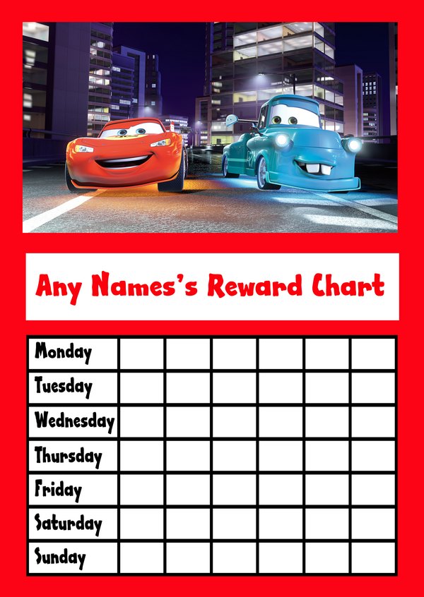 Cars sticker chart seroton ponderresearch co