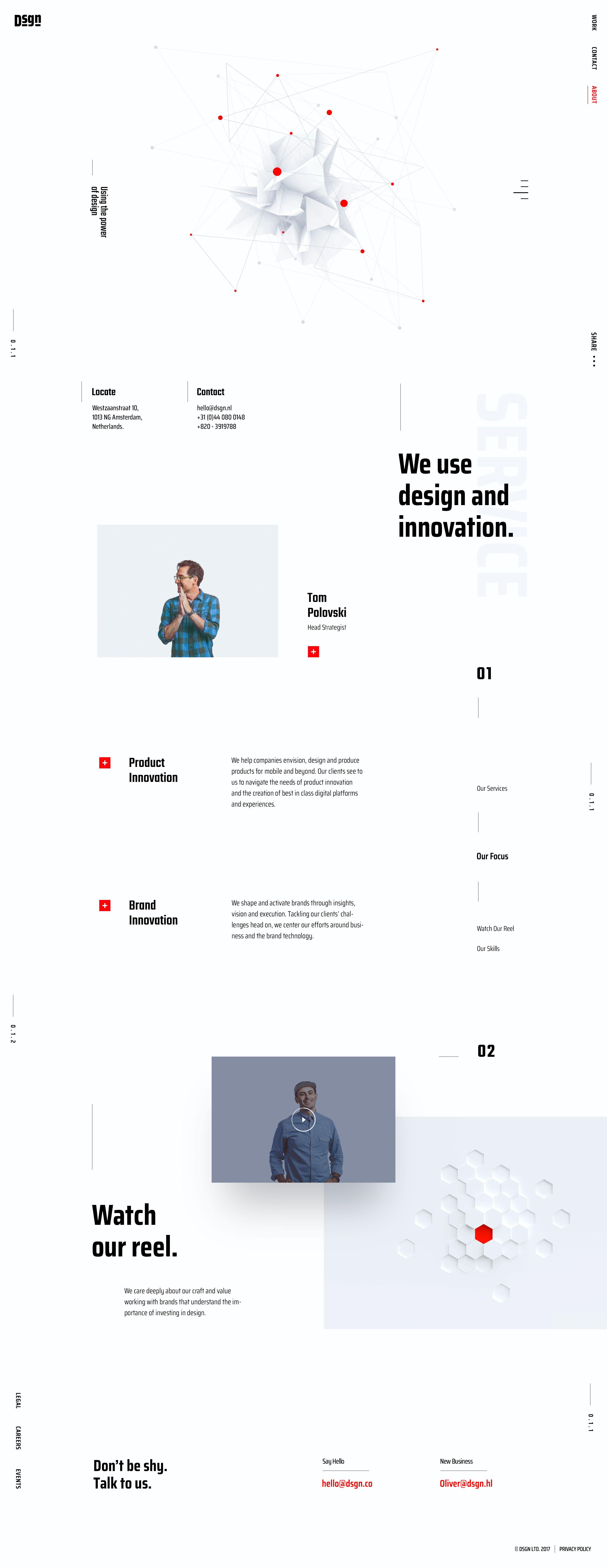 Bad designtrends website page concept for creative digital agency  ui u ux design