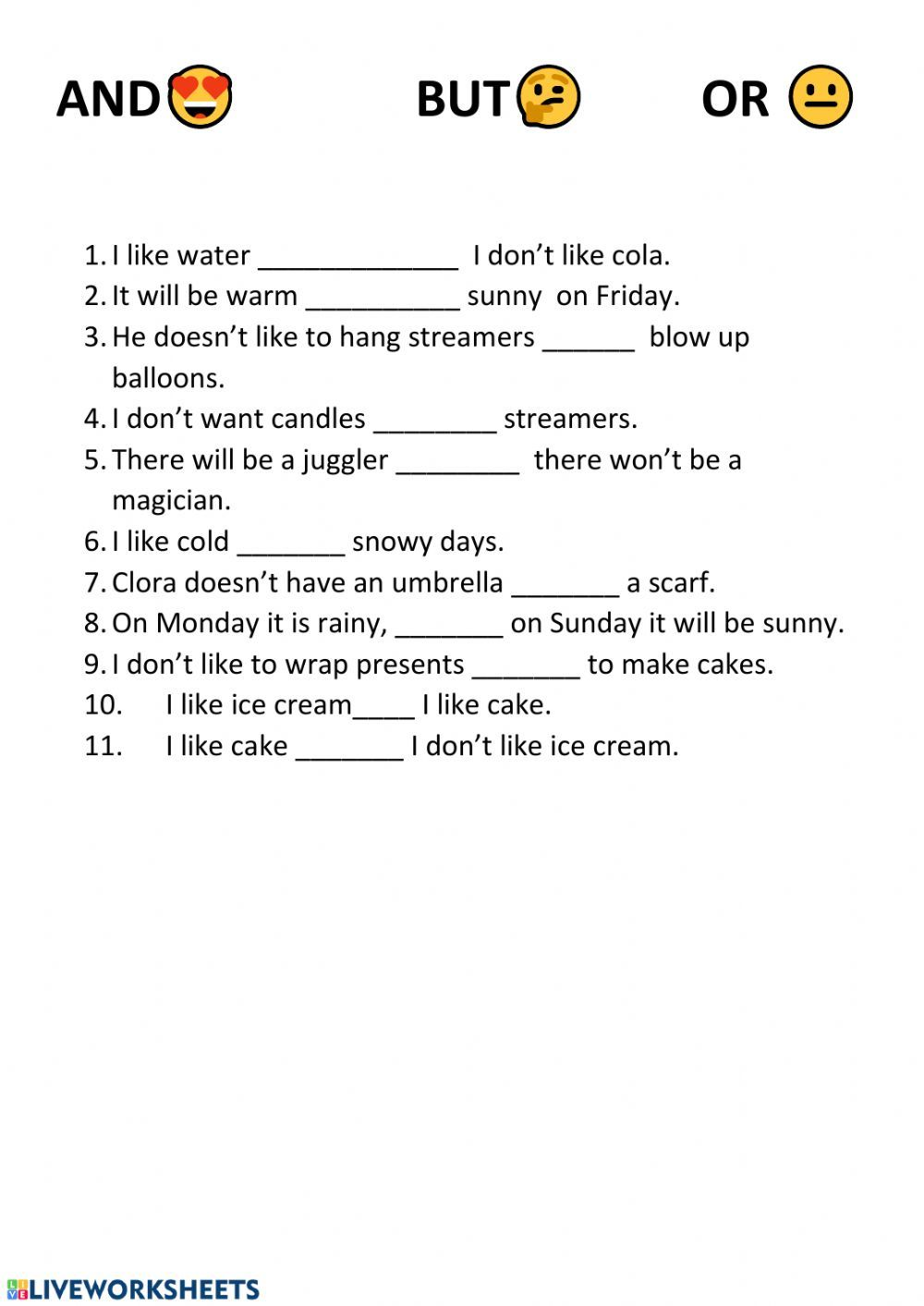 Linking words interactive and downloadable worksheet. You