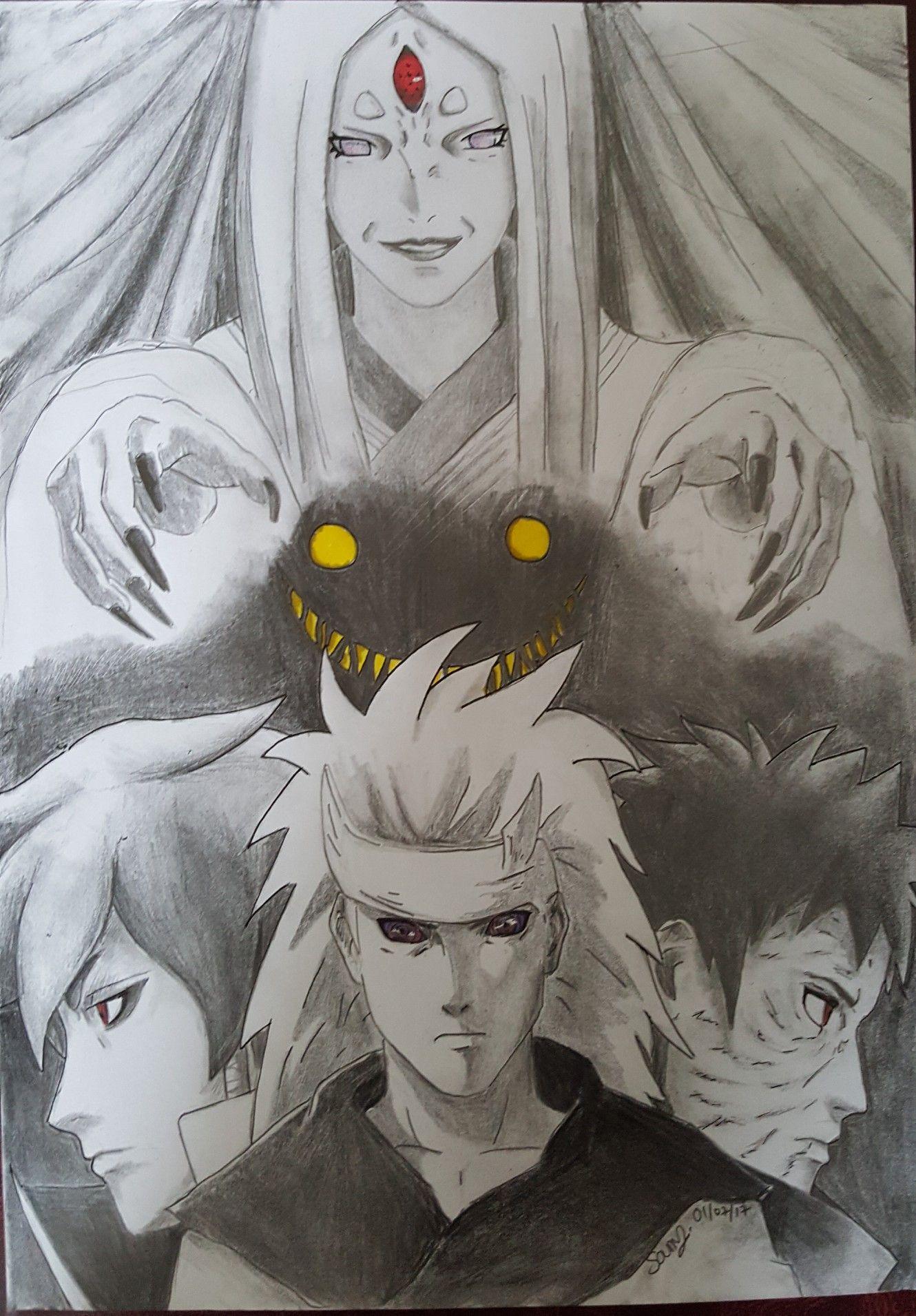 Ootsutsuki Kaguya Uchiha Obito Uchiha Madara Ootsutsuki Indra