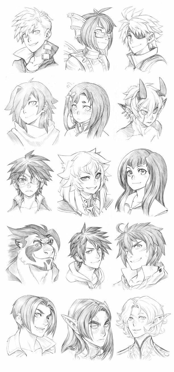 Pin De Nive Artwork Em Comics Manga Cabelo Manga Desenho De Cabelo De Anime Desenhos De Rostos