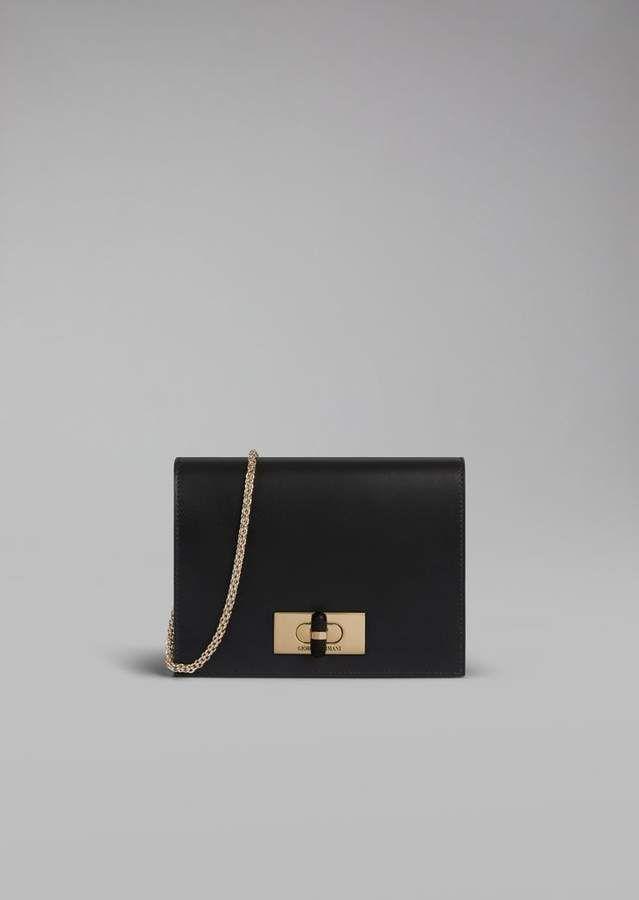 759a19ecb3 Giorgio Armani Borgonuovo 11 Smooth Leather Wallet With Chain in ...