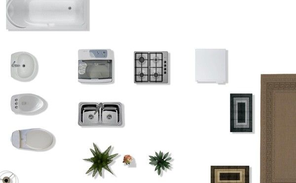 Texture psd 2d furniture floorplan plan pinterest 2d for Kitchen set 2d