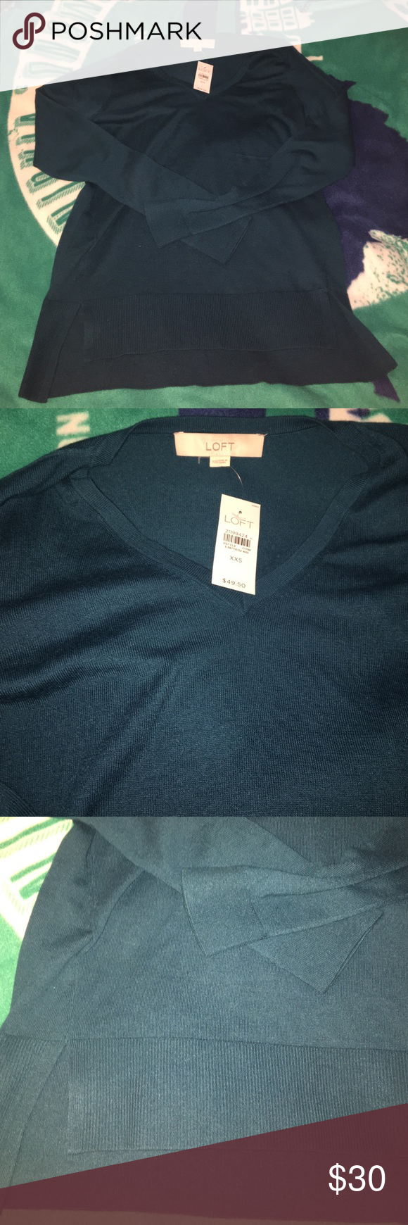 Loft Tunic Sweater Teal Green XXSmall Loft Brand new with tags ...