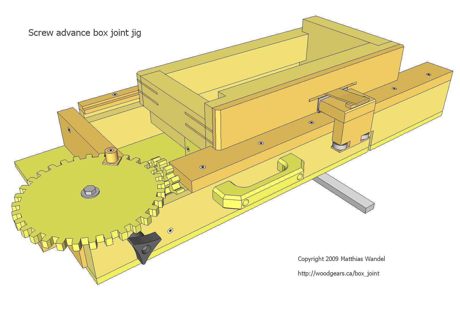 woodshop plans for beginners. screw advance box joint jig plans woodshop for beginners