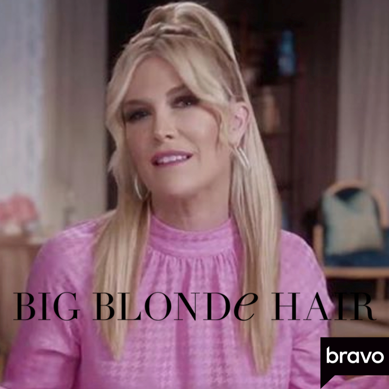 Tinsley Mortimer S Pink Confessional Blouse Big Blonde Hair In 2020 Big Blonde Hair Blonde Hair Housewives Of New York