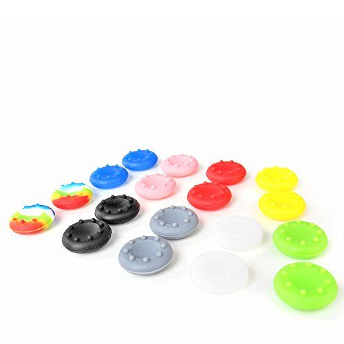 TNP 9 Pairs Thumbstick Joystick Rubber Grip Cap Cover Case Gampad Thumb stick Replacement Parts for Sony Playstation 4 PS4 PS2 PS3 XBOX 360 / One Wii U Controller 9 Colors [Playstation 4] TNP Products http://www.amazon.com/dp/B013HOC1DE/ref=cm_sw_r_pi_dp_3Mthwb0QACX5F