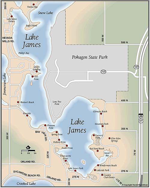 lake james indiana map Map Of Lake James Indiana Yahoo Search Results Lake Fun Snow lake james indiana map