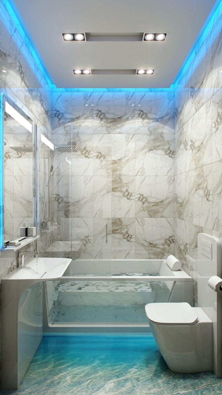 Mobel Und Dekoration Led Beleuchtung Im Badezimmer Mit Bad Beleuchtung Planen Und Bad Blau Marmor Fliesen Badezimmerideen Badezimmer Design Kleine Badezimmer