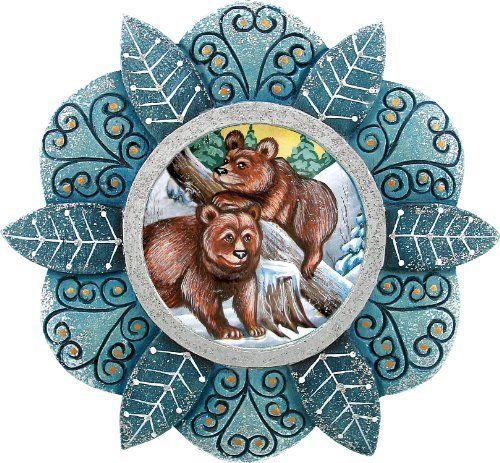 G. Debrekht Pair of Bears Snowflake Ornament  3-1/2-Inch Tall  Includes String f #NotApplicable