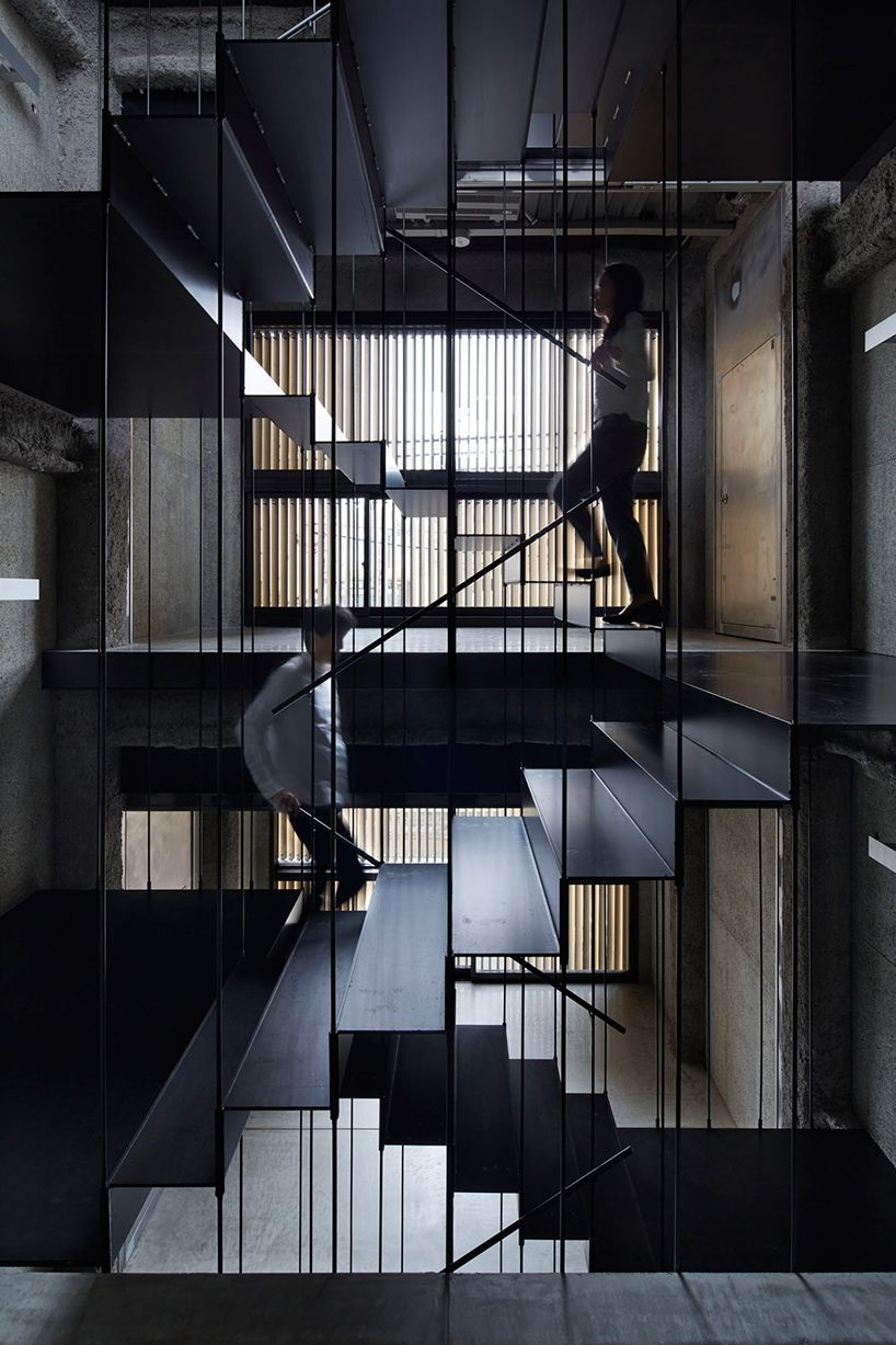 architecture we like / interior / stairs / black / wood