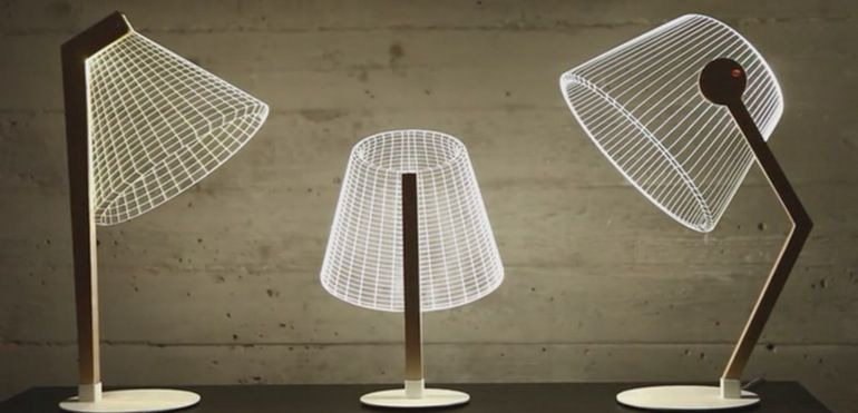 Bulbing Lamps Create Light From Optical Illusions Table Lamp Design Lamp Design Cool Lamps