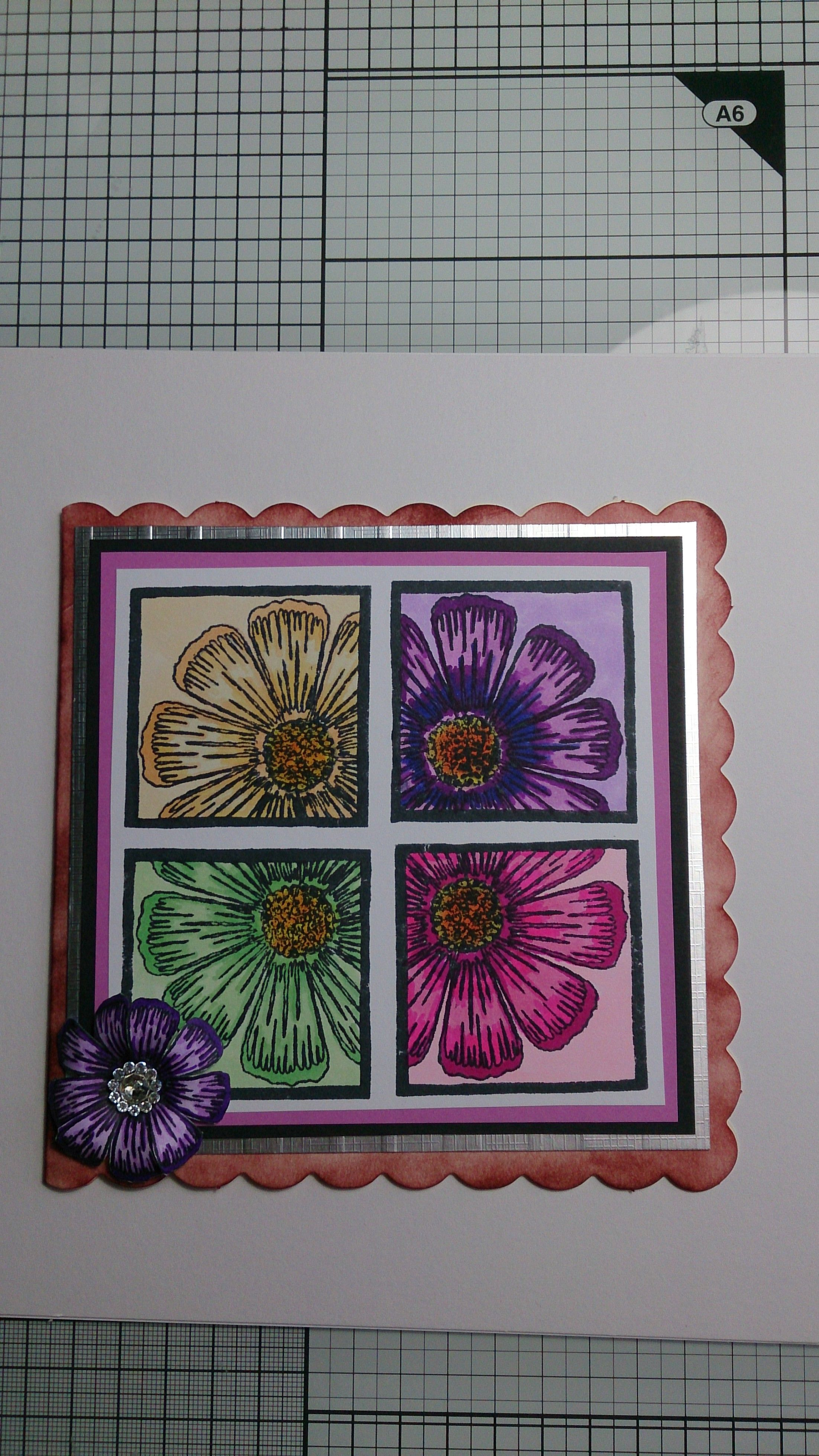 Card made for my mom for mothers day 2014 first time ive