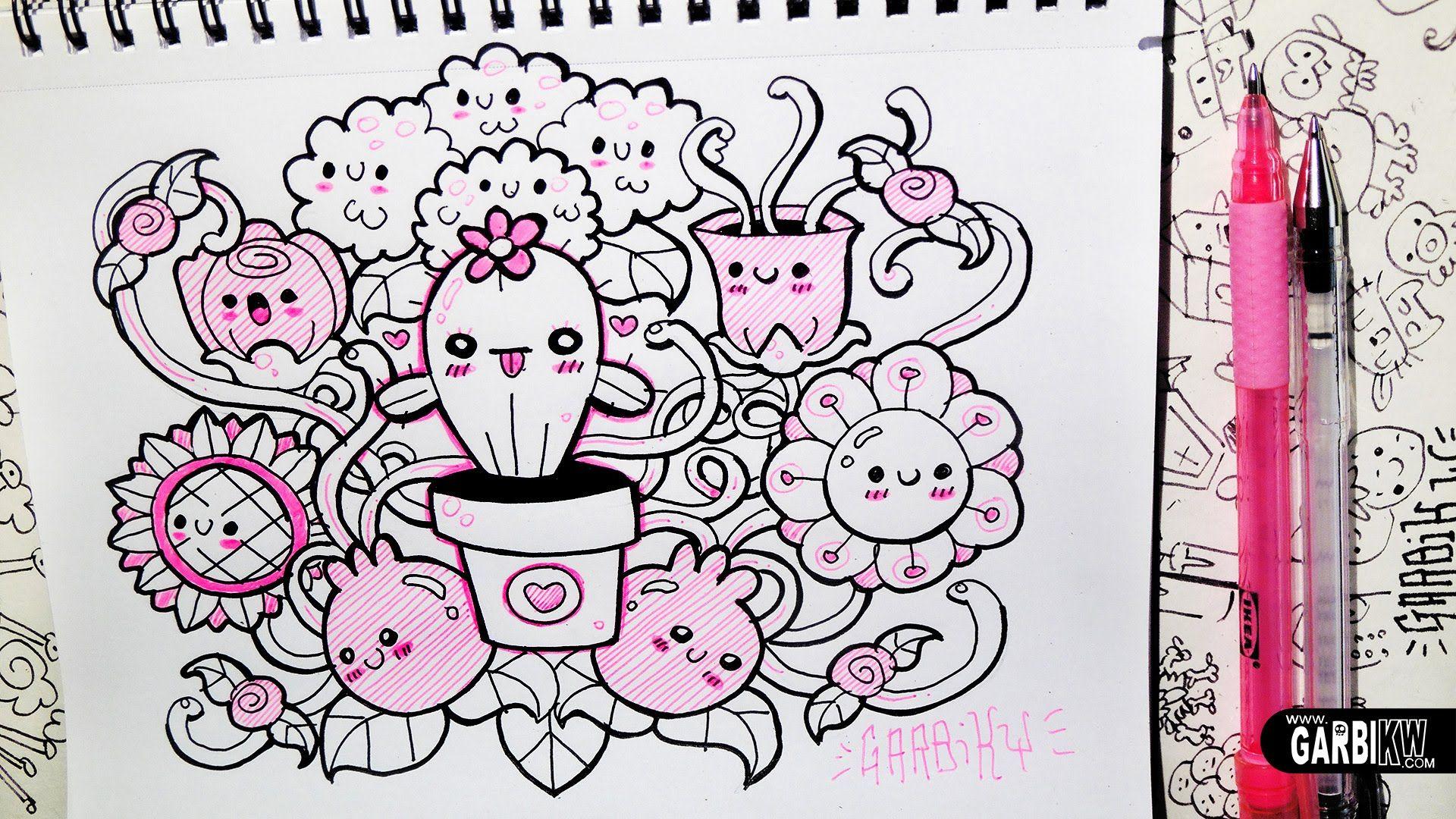 Kawaii Flowers ™� Hello Doodles ™� Easy Drawings By Garbi Kw