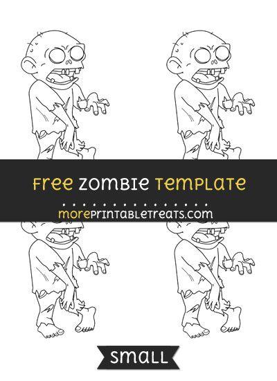 Free Zombie Template - Small Halloween Printables Pinterest - halloween template
