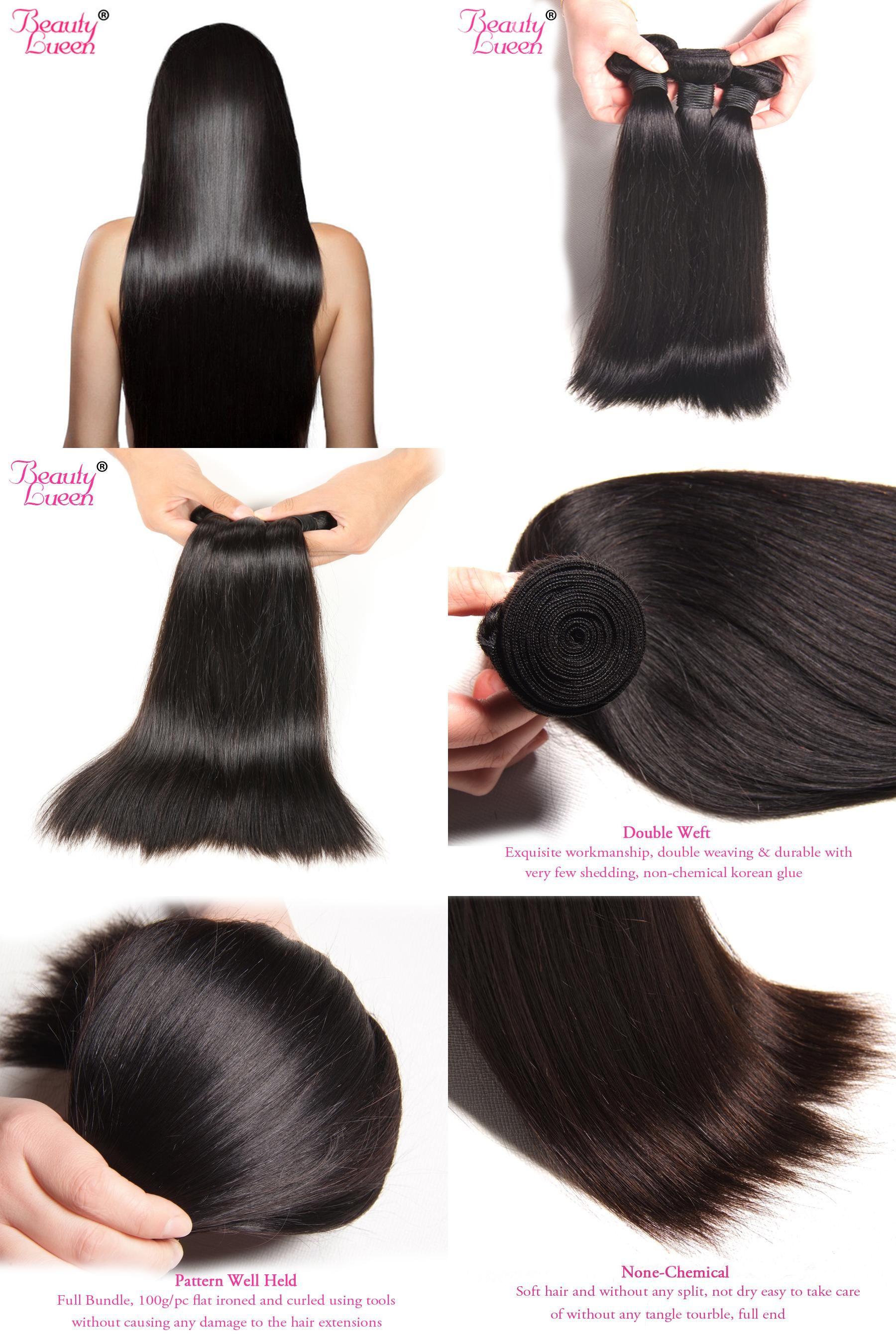 Visit To Buy Malaysian Straight Hair Bundles 100 Human Hair