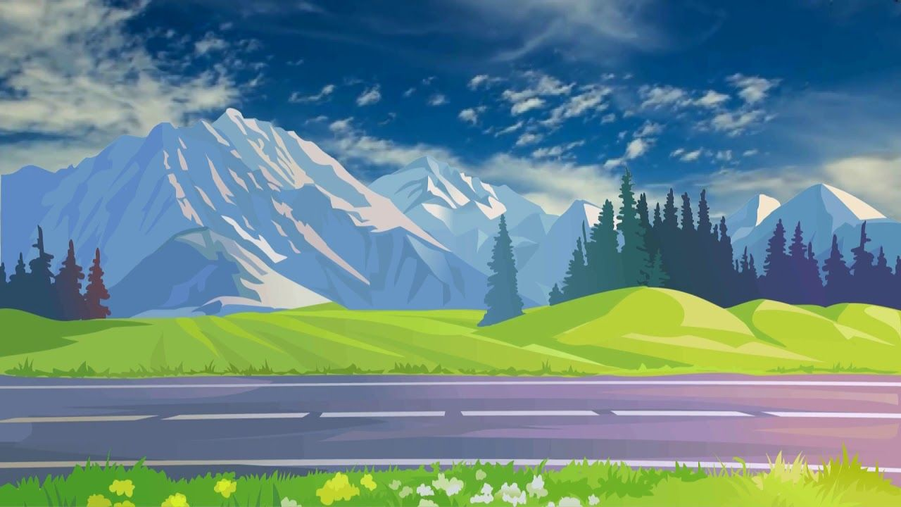 Beautiful 3d Animation With Nature Scenery 3d Background Video Effects Landscape Wallpaper 3d Background Background