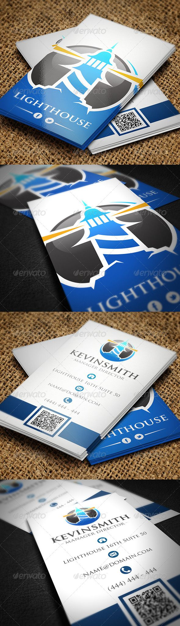 Lighthouse Business Card | Business cards, Lighthouse and Business