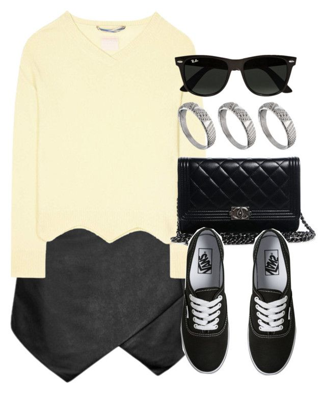 Sin título #12733 by vany-alvarado on Polyvore featuring polyvore fashion style 81hours Vans Chanel ASOS Ray-Ban clothing