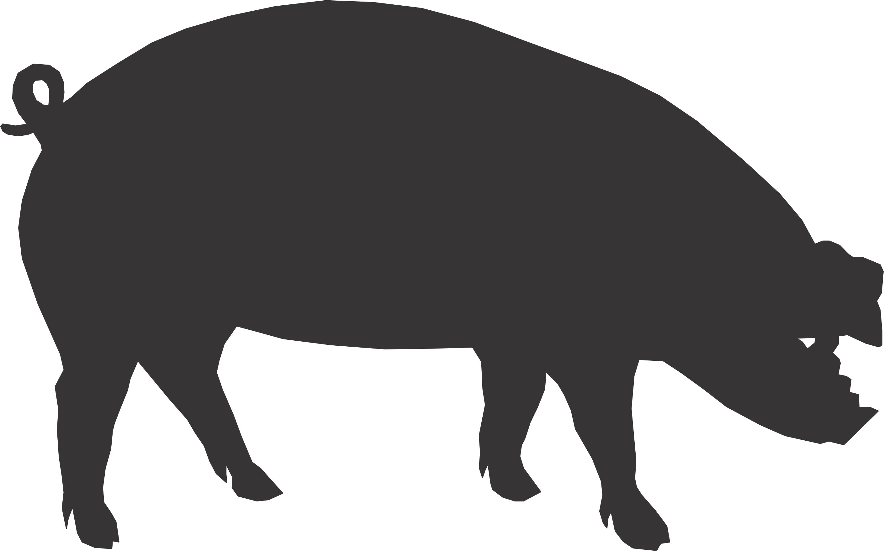 cartoon-pig-silhouette-02.jpg (2819×1758)   Pete's 30th ...