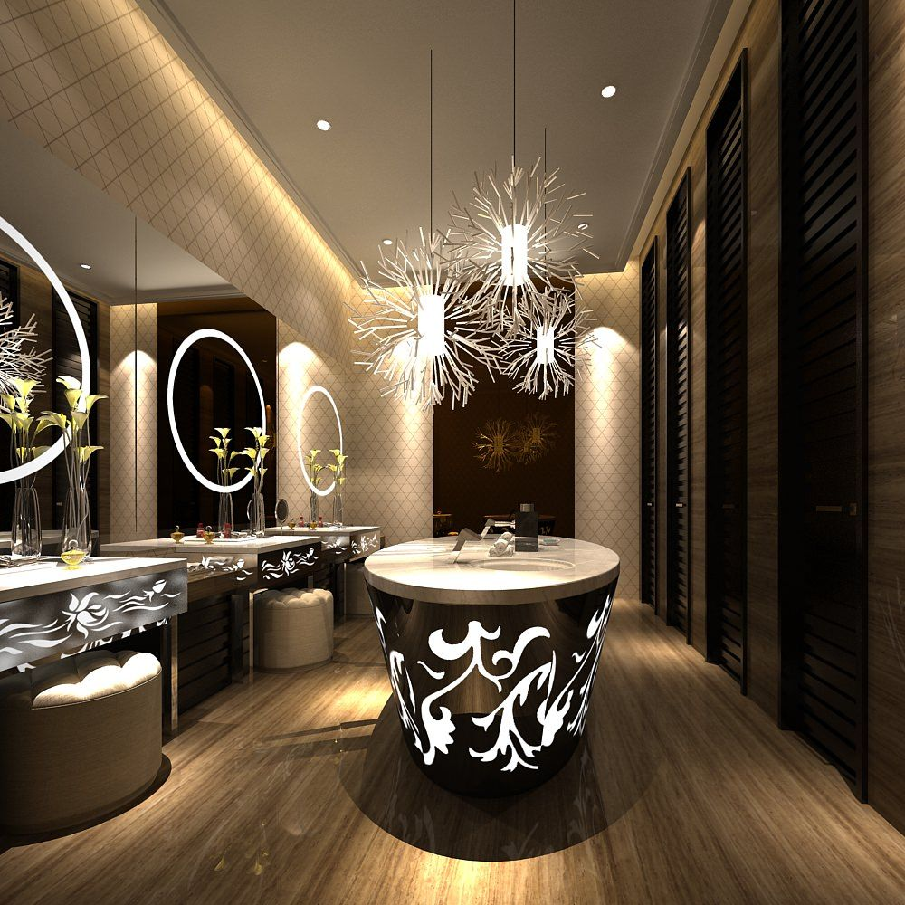 45 Luxurious Powder Room Decorating Ideas | Powder room, Symbols and ...