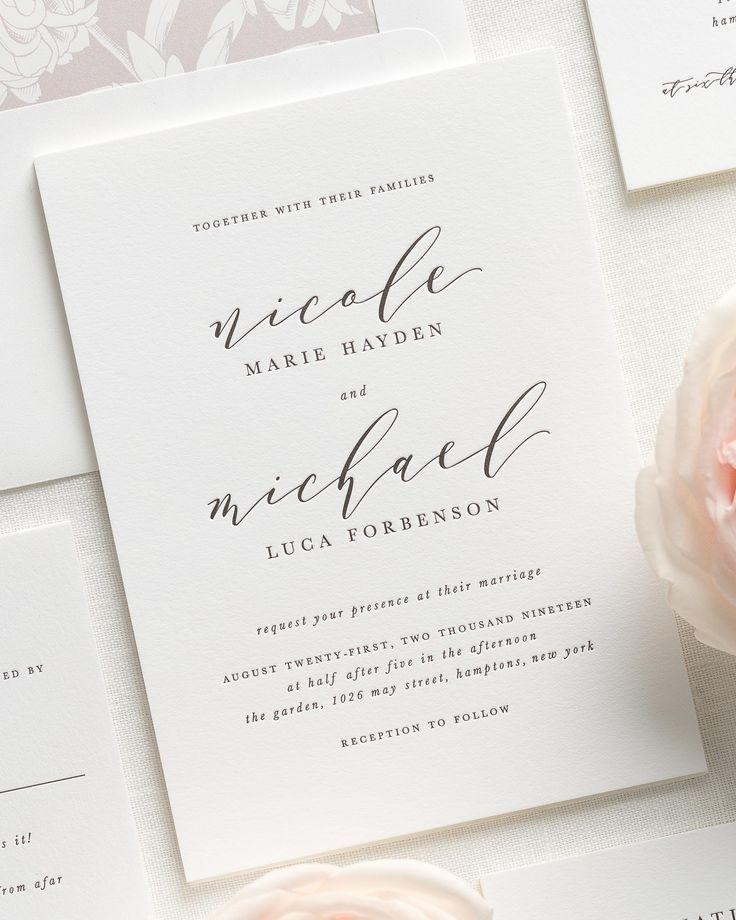 Nicole Letterpress Wedding Invitations