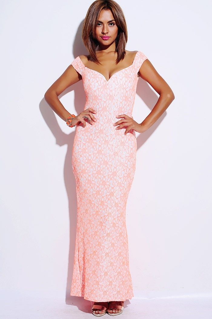 1015store.com #fashion #style white neon orange trimmed lace ...
