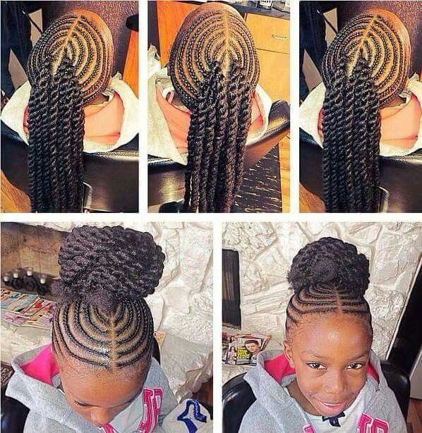 Little Girl Natural Hair Braided Cornrows Natural Hairstyles For