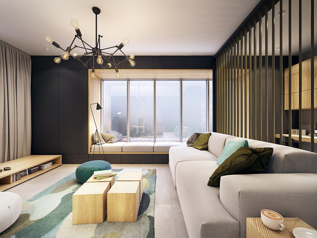 Best This Contemporary Apartment Pops With Turquoise Accents 400 x 300