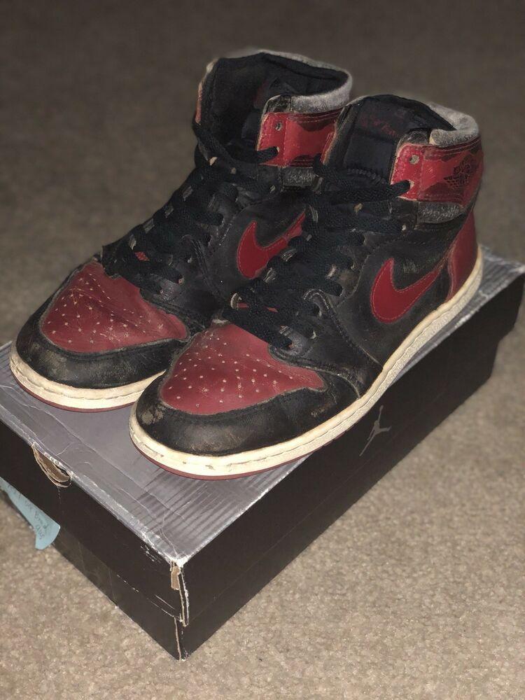 1985 Nike Air Jordan 1 OG Bred Size 9
