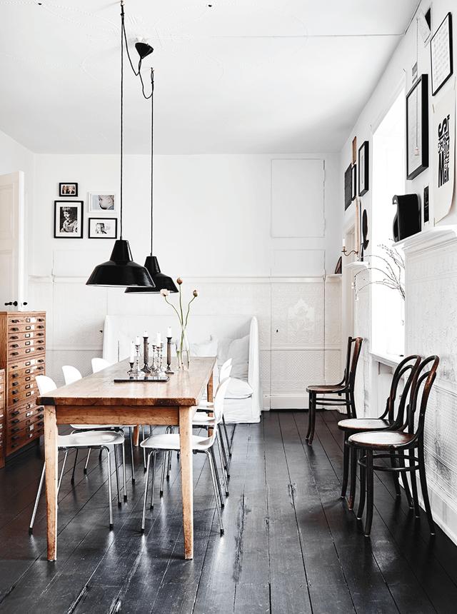 Comedor de estilo moderno y urbano decorado con #tarima de #madera ...