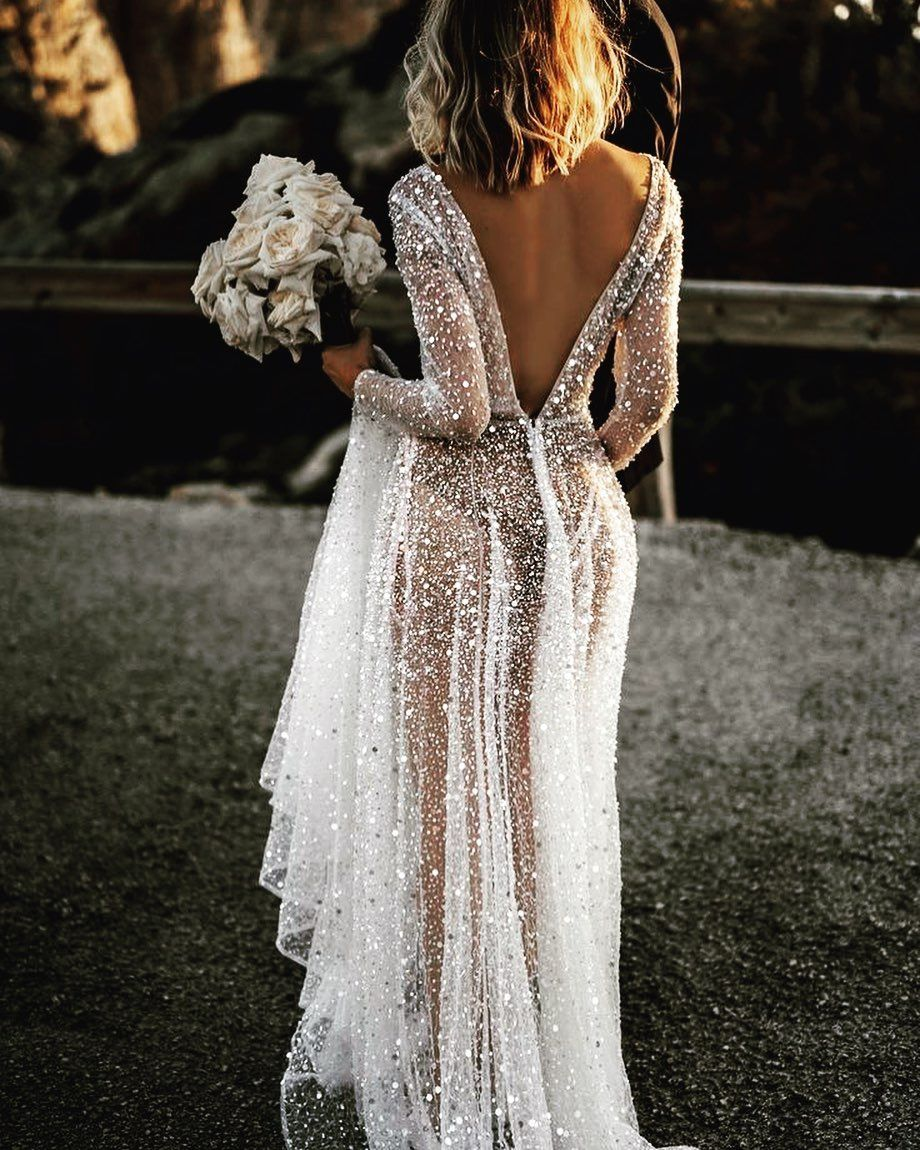 Cassie Bush On Instagram Looove This Modern Chic Dreamy Vintage Wedding Inspo That Dress In 2020 Wedding Dress Sequin Wedding Dresses Wedding Dresses Unique