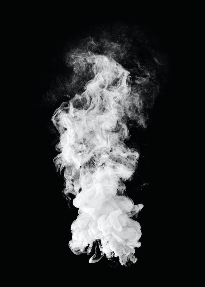 Download Premium Illustration Of White Smoke Effect Design Element On A Blur Background Photography Smoke Background Design Element