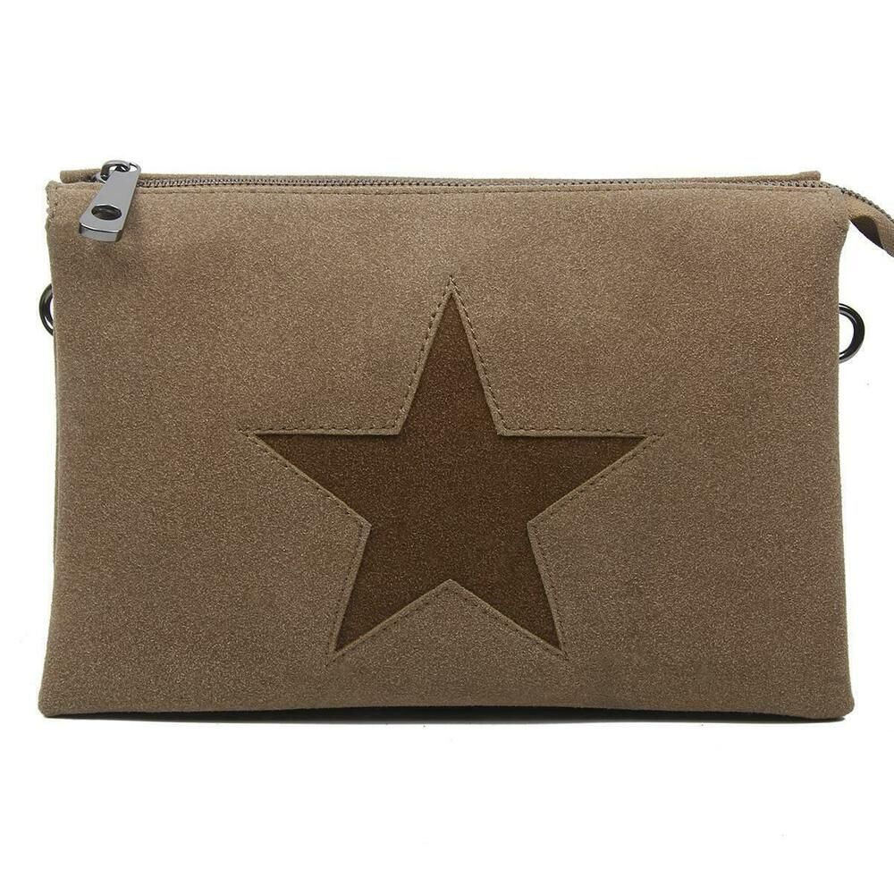 Photo of [Werbung] DAMEN TRIO CLUTCH STERN ABEND-HAND-TASCHE Schultertasche Cross-Bag Led…