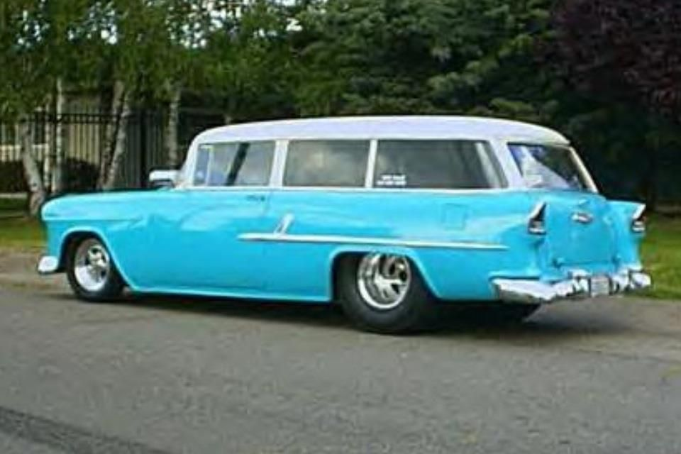 55 Chevy 2 Door Wagon 55 Chevy Chevy Muscle Cars Chevy