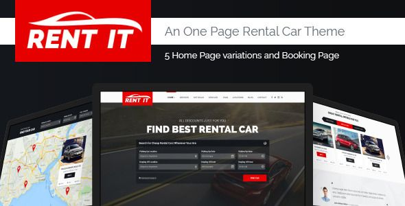 Rent It  Car Rental Management Psd Theme  HttpsThemekeeper