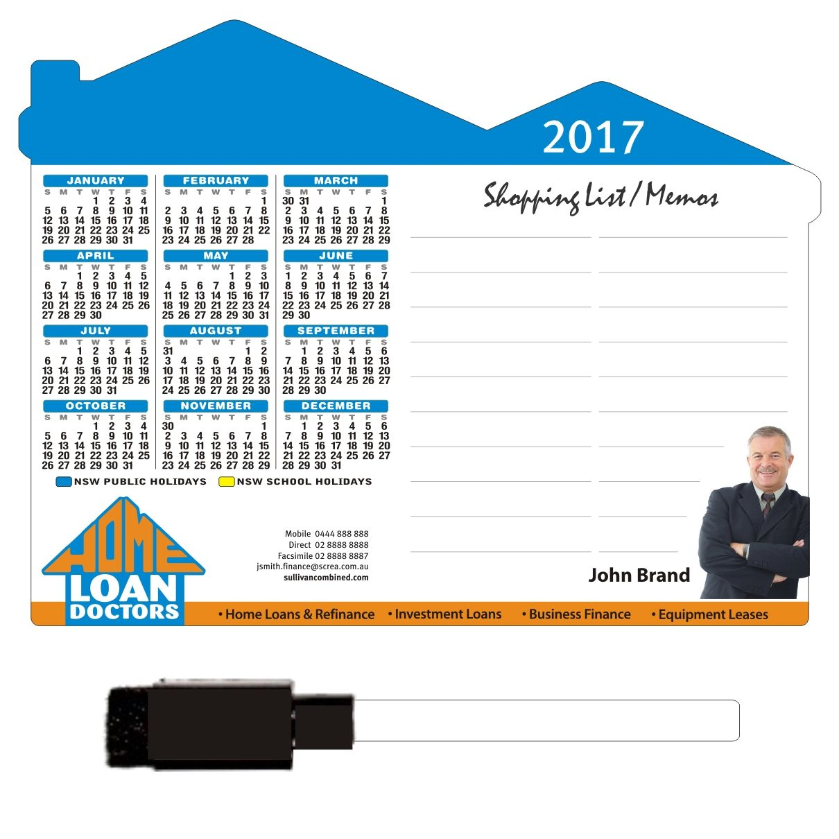 A5 Size House Shape Magnets Get Your Name On The Fridge For A Full Year Www Clevercalendarmagnets Com Au Real Estate Memo Years