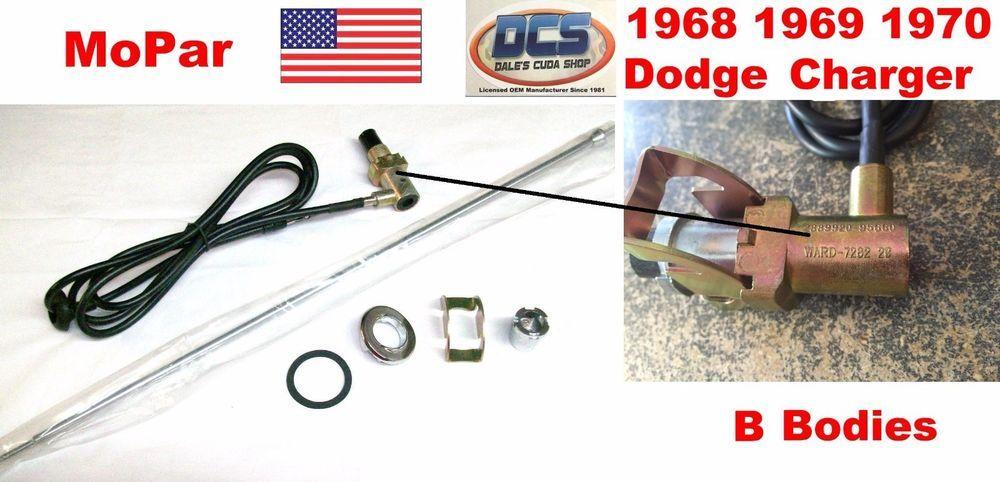 1968 69 70 Dodge Charger R/T 500 Daytona Extending Mast Antenna Kit