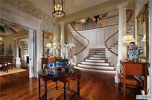 Southern Colonial Style House Interior
