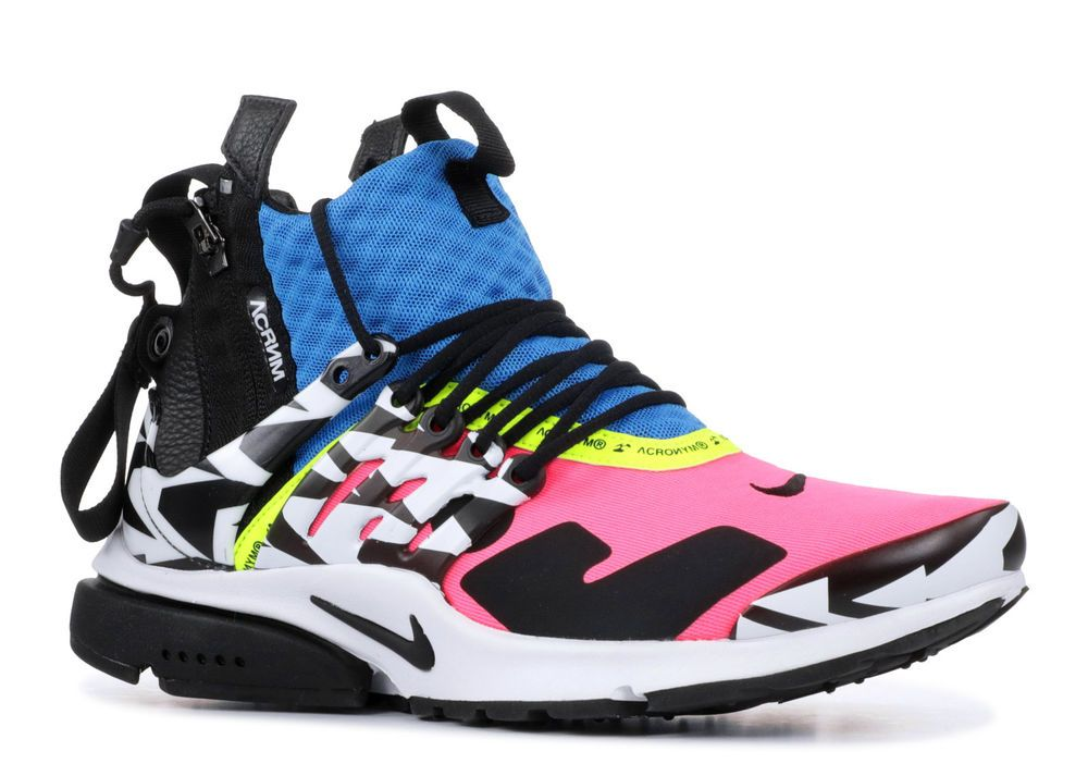 new product 968ae 06dfd Nike Air Presto Mid Acronym Racer PinkBlackBlue (8-13 sizes