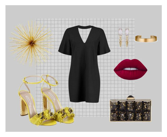"""YELLOW SHOES"" by paulinariojas on Polyvore featuring moda, Casadei, Boohoo, Bing Bang, Judith Leiber, Lime Crime y Le Gramme"