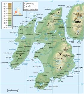 Carte topographique d'Islay. | paysages | Pinterest | Paysages