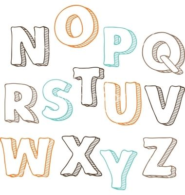 Cute Hand Drawn Font Letters Set NZ Vector   Design  Alphabets