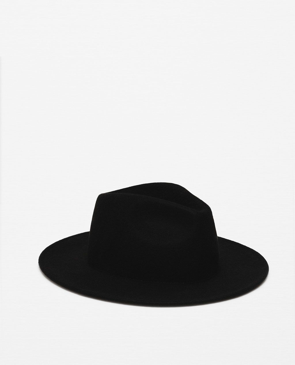 Image 1 of WIDE BRIM FELT HAT from Zara  2a48354bb9f
