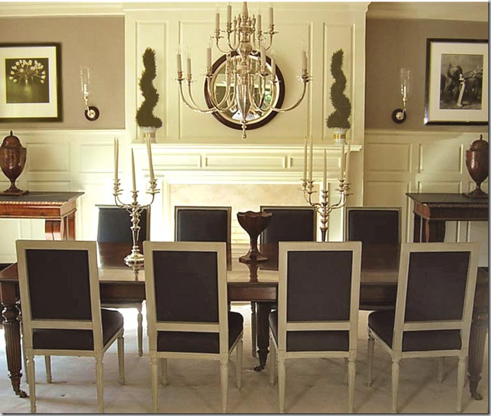 Symmetrical Dining Room Via Cotedetexas How Symmetry Can Bring You Louis Chairs